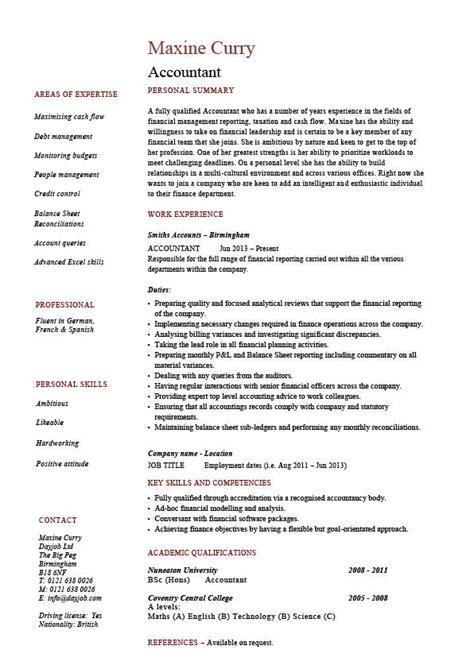Accountant resume, example, accounting, job description