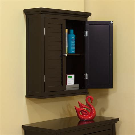 Espresso Bathroom Wall Cabinet by Bayfield Espresso Shutter Door Wall Cabinet