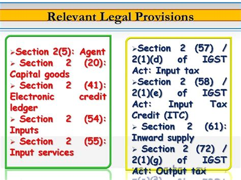 section 57 of income tax act input tax credit in gst