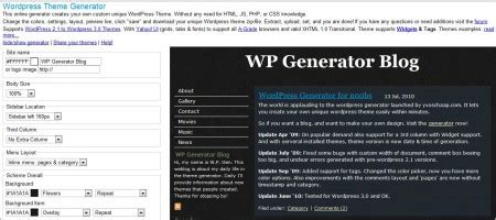 wordpress theme generator online 9 best and free online template generators for websites or