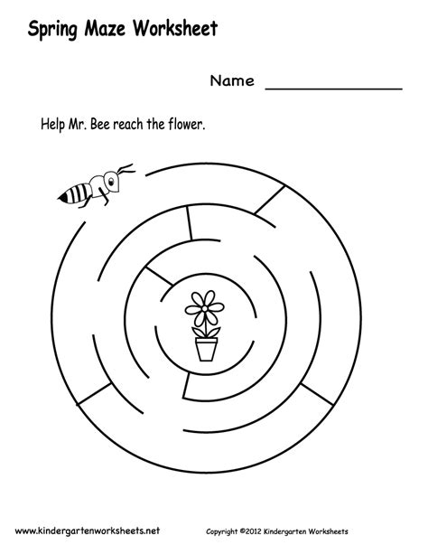 printable spring maze crafts actvities and worksheets for preschool toddler and