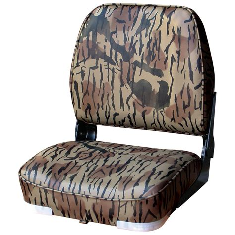 camo boat bench seat wise camouflage hunting fishing fold down boat seat