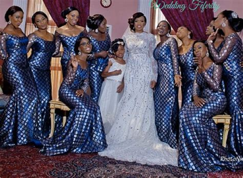 pictures of bridesmaidgown on bellanaija blue bridesmaids dresses for nigerian weddings