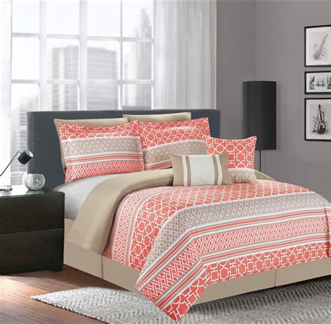 bedroom queen bedding sets with comforter coral bedding
