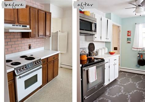 Cheap Kitchen Cabinet Makeover Cheap Kitchen Makeover The Paint Color Stainless White Cabinets Microwave Up High