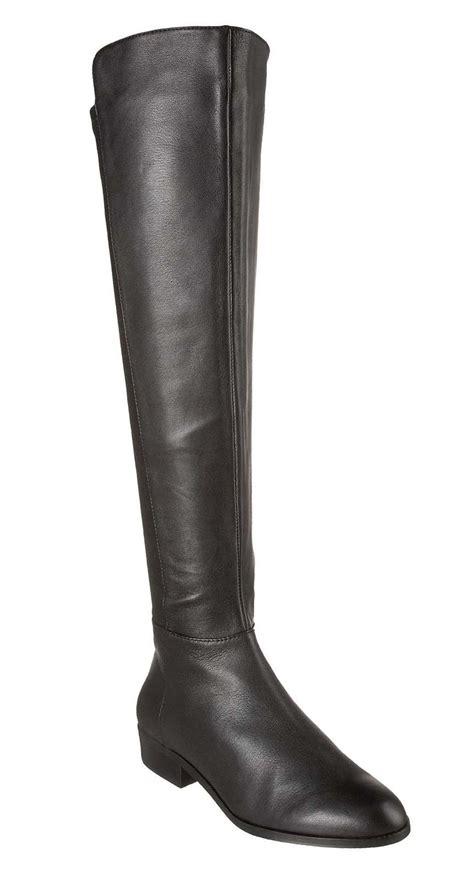 michael kors bromley flat leather elastic black boot