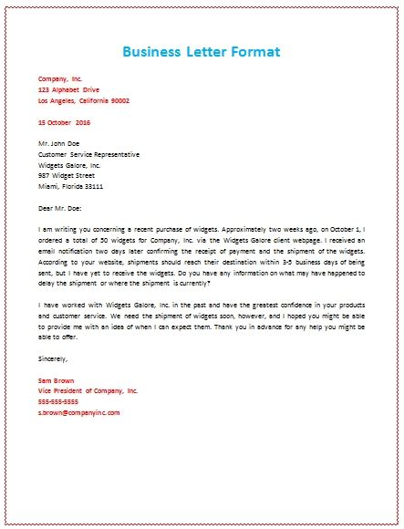 business letter format letterhead sle 6 sles of business letter format to write a