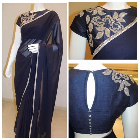 blouse pattern in pinterest plain saree with patch work blouse bridal wear pinterest