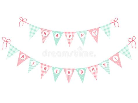 Dijamin Bunting Flag Banner Flag Happy Birthday Biru bunting flags happy birthday stock illustration image 69910714