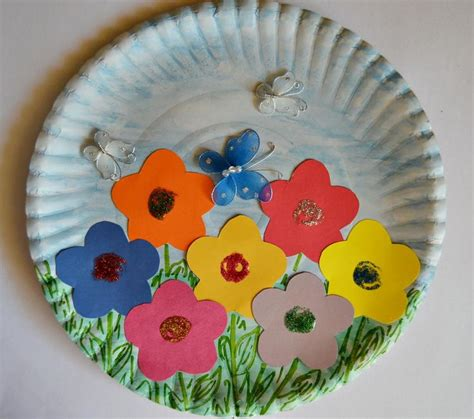 Craft Work With Paper Plate - paper plate garden gardens and to
