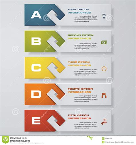 clean graphic design layout design clean number banners template vector stock vector