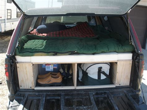 truck bed sleeping platform convert your truck into a cer espa 241 ol