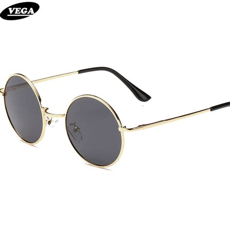 VEGA Polarized 80s 90s Retro Round Glasses Men Women Metal