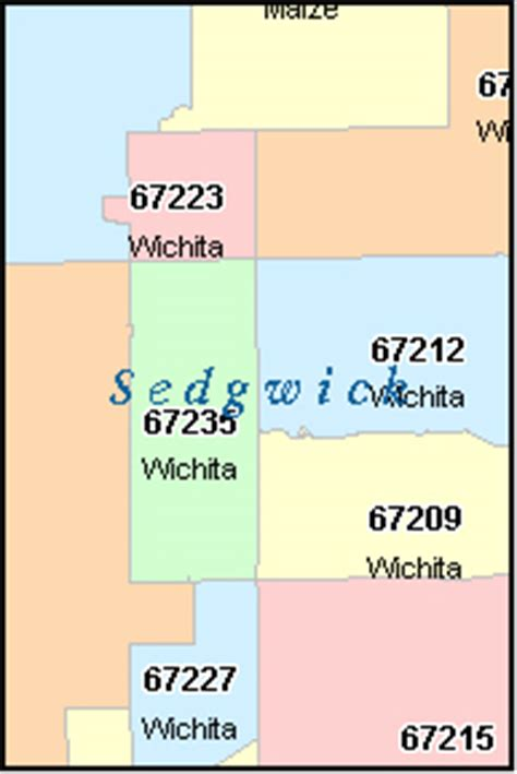 zip code map wichita ks wichita kansas ks zip code map downloads