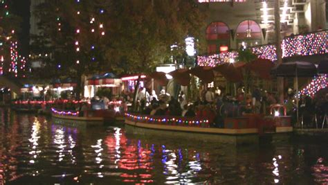 san antonio riverwalk christmas lights boat video night christmas lights of the san antonio texas