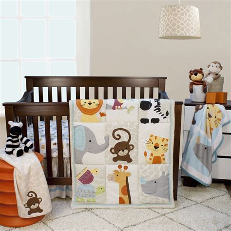 lambs and ivy bedding lambs ivy zoomba 3 piece animal crib bedding set