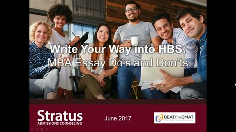 Mba Essay Dos And Donts by Write Your Way Into Hbs Mba Essay Do S And Don Ts