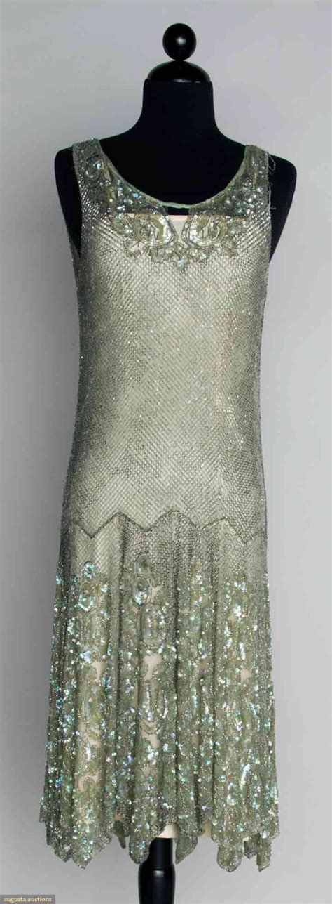 beaded 1920s dress beaded sequined dress 1920s augusta auctions