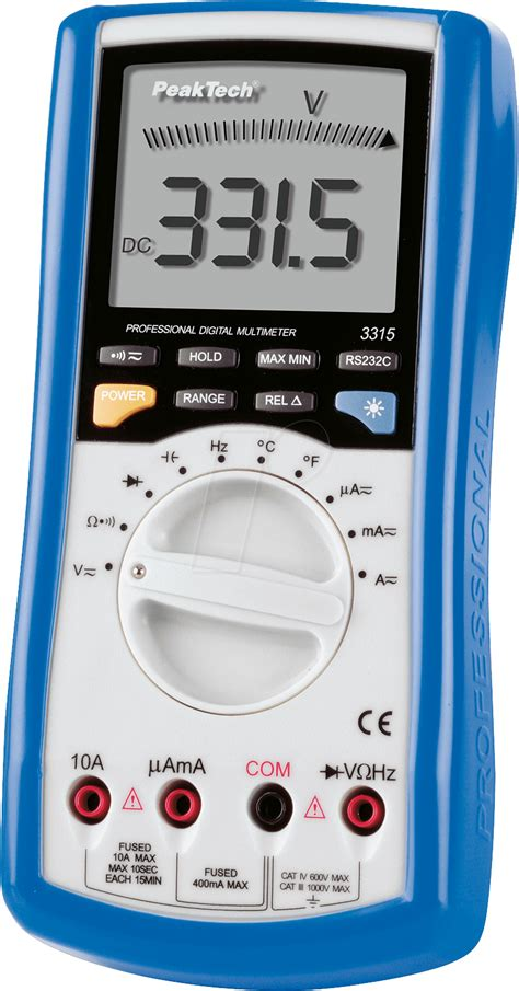 Multimeter Elektronik peaktech 3315u digital multimeter with usb interface at