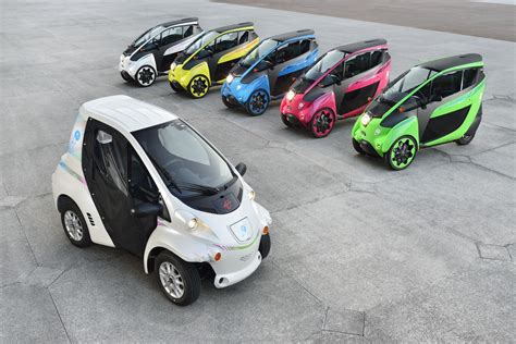 Toyota Iroad Cost Colourful Carsharing Fleet Of Toyota I Road And Coms In