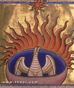 bestiary theoi greek mythology phoenix phoinix fire bird of greek roman legend