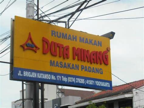 papan nama rumah makan duta minang  jalan brigjen