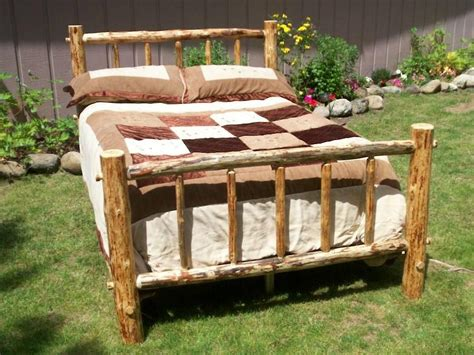 queen size log bed frame bear log bed frame into the glass charm of rustic bed