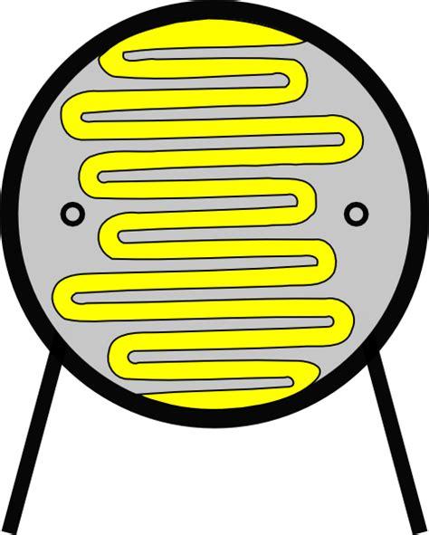resistor vector light dependant resistor ldr clip free vector 4vector