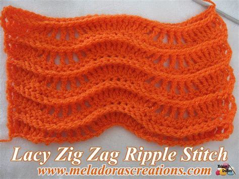 zig zag crochet pattern how to lacy zig zag ripple stitch free crochet pattern video