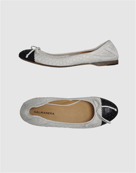 gray ballet flats womens shoes halmanera ballet flats in gray grey lyst
