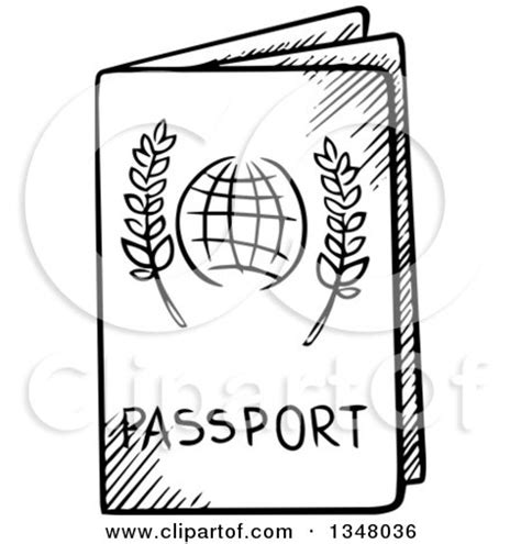 clipart 3d false nose and glasses on a passport royalty