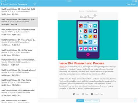 mailchimp mobile app mailchimp app voor iphone en ipod touch appwereld