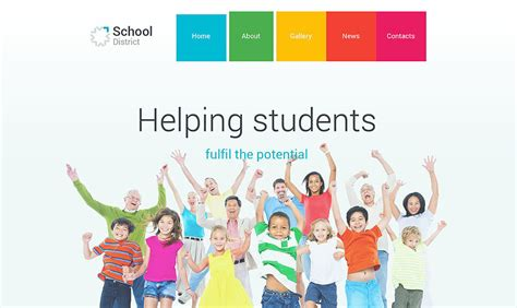 Top Material Design Psd Themes For Web Sites School Club Website Template