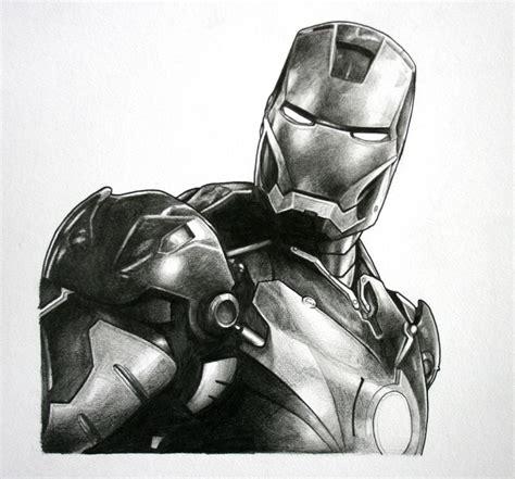ironman drawing iron original pencil drawing cool