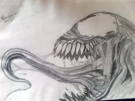 Drawing Venom venom drawings pictures to pin on pinsdaddy