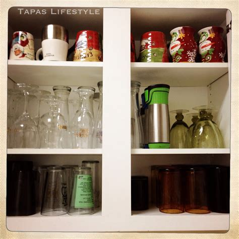 Cup Cupboard Cups And Glasses Cupboard Organization