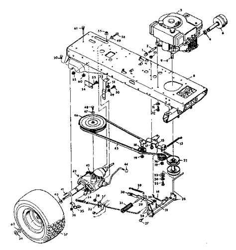 sears lawn tractor parts diagram craftsman sears lawn tractor peerless transaxle parts