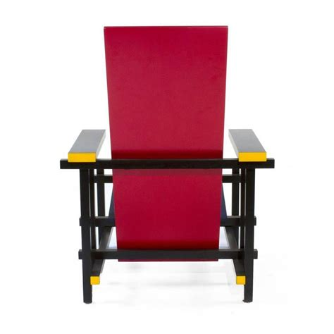 rietveld armchair cassina red and blue lounge chair by gerrit rietveld italy modern armchair for sale at 1stdibs