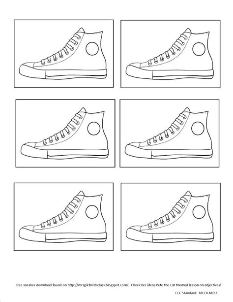 pete the cat shoe template kinder kollaboration pete the cat themed common data