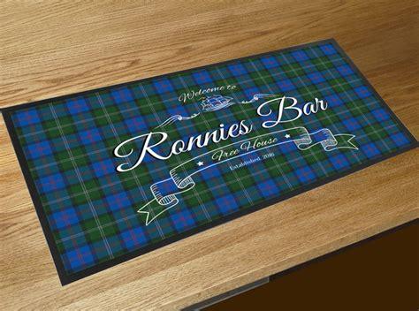 Bar Runner Mat by Personalised Welcome Tartan Bar Runner Mat