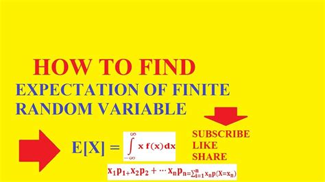 How To Find Random On How To Find Expectation Of Finite Random Variables E X Standard Deviation Variance
