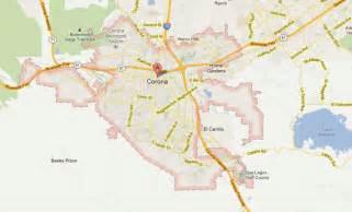 map of corona california corona california map and corona california satellite image