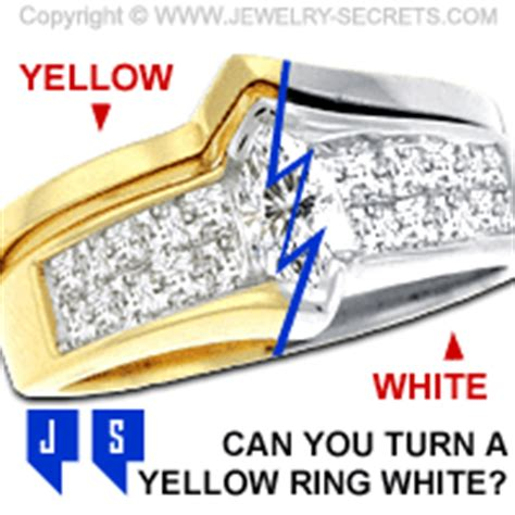 turn yellow gold into white gold jewelry secrets