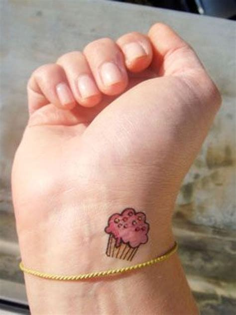 muffin tattoo 25 attractive cupcake wrist tattoos