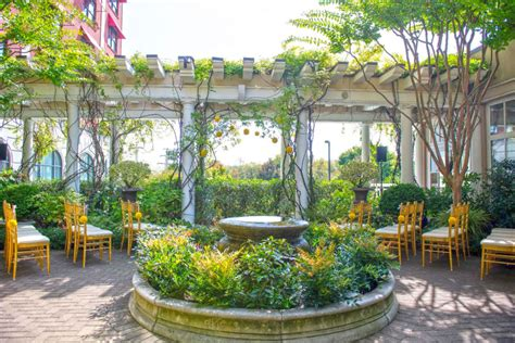 Pavilion Room And Cloister Garden At O Henry Hotel In Greensboro Botanical Gardens
