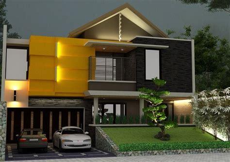 desain fasad rumah tropis minimalis fasad rumah