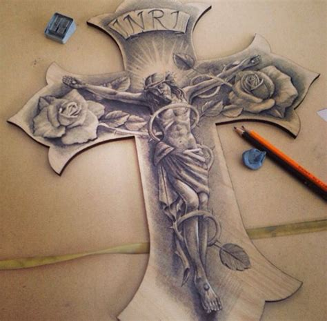 black and grey cross tattoos 21 religious images and designs