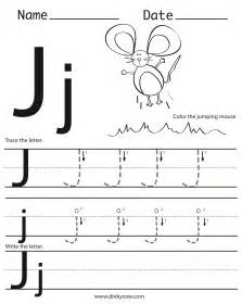 free coloring pages of letter j worksheet