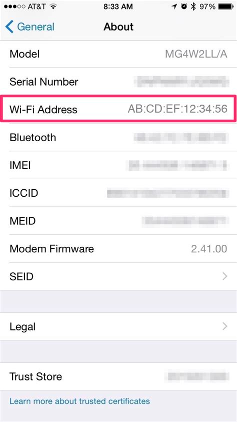 Mobile Address Search How To Find Your Mobile Mac Address Ios Fields Auto