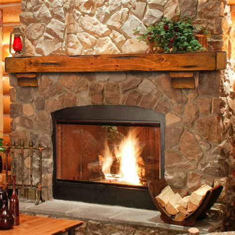 breckenridge 48 inch wood fireplace mantel shelf